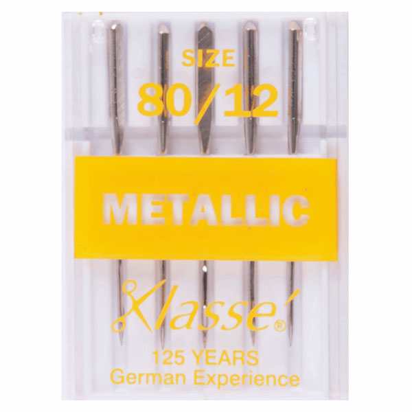 Klasse Metallic 80/12 Machine Needles (5pcs)