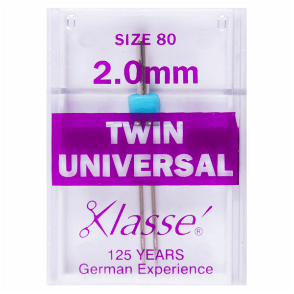 Klasse Twin Universal 2mm Machine Needles (1pc)