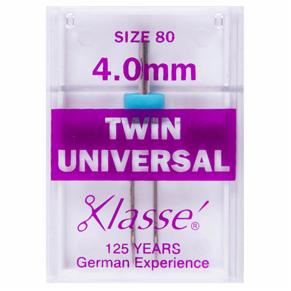 Klasse Twin Universal 4mm Machine Needles (1pc)