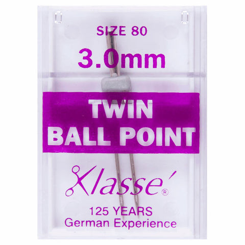 Klasse Twin Ball Point 3mm Machine Needles (1pc)