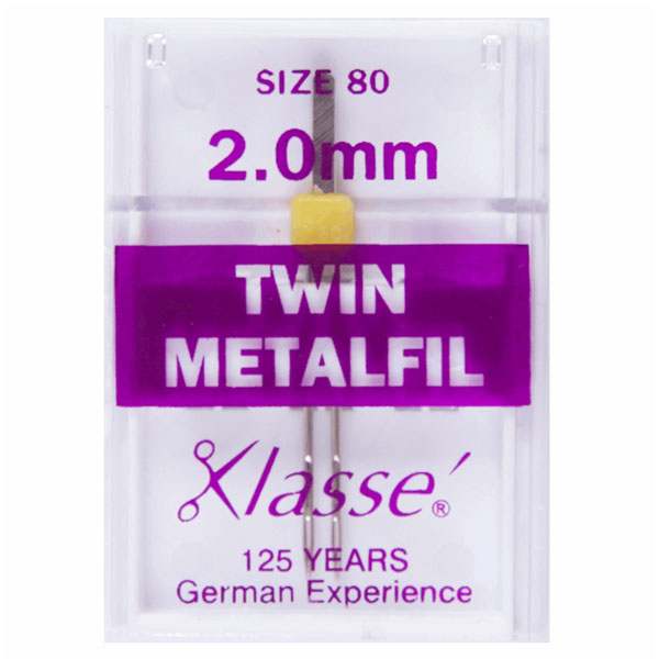 Klasse Twin Metalfil 2mm Machine Needles (1pc)