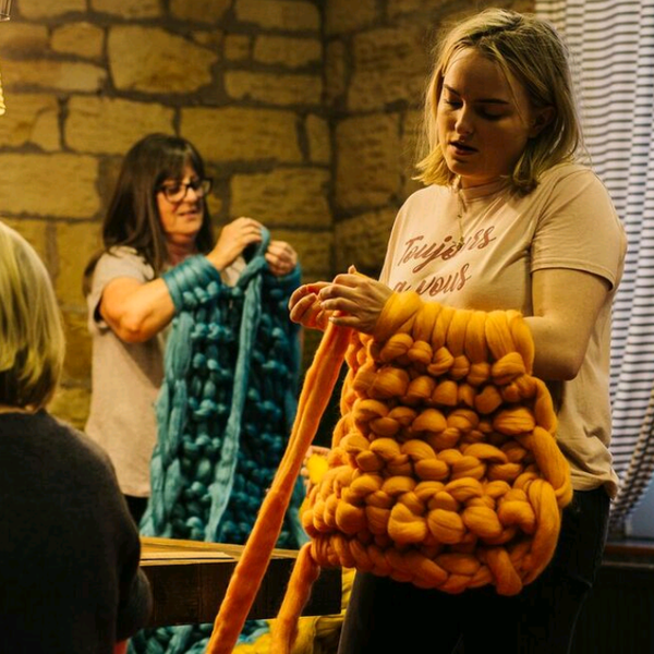 Arm Knit Blanket Workshop
