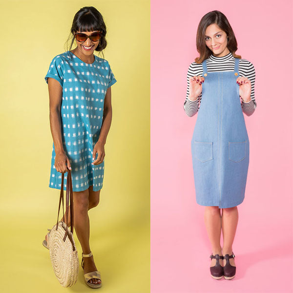 Beginners Dressmaking - Tilly & the Buttons Cleo Dungaree Dress or Stevie Tunic