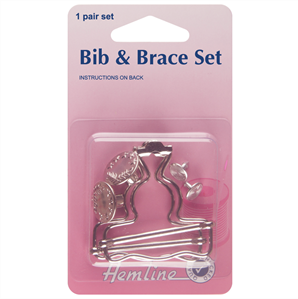 Hemline Bib & Brace Set 40mm