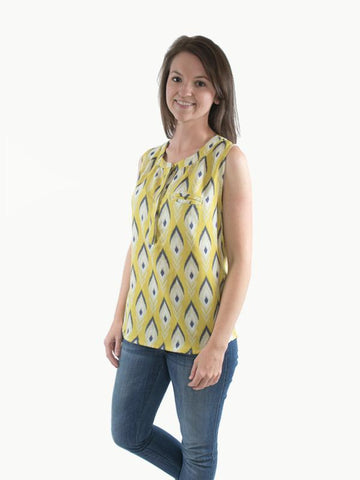 Hey June Handmade: The Biscayne Blouse Sewing Pattern (PDF Only)