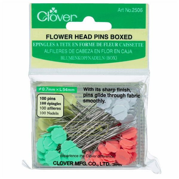 Clover Flower Head Pins: Box