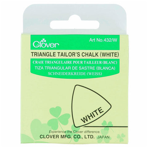Clover Triangle Tailors Chalk: White