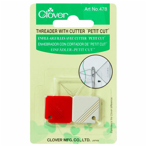 Clover Threader with Cutter Petit Cut
