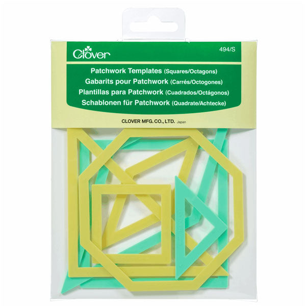 Clover Patchwork Templates: Square/Octagon