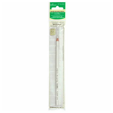 Clover Water Soluble Pencil: White