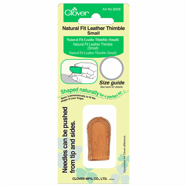 Clover Natural Fit Leather Thimble: Small