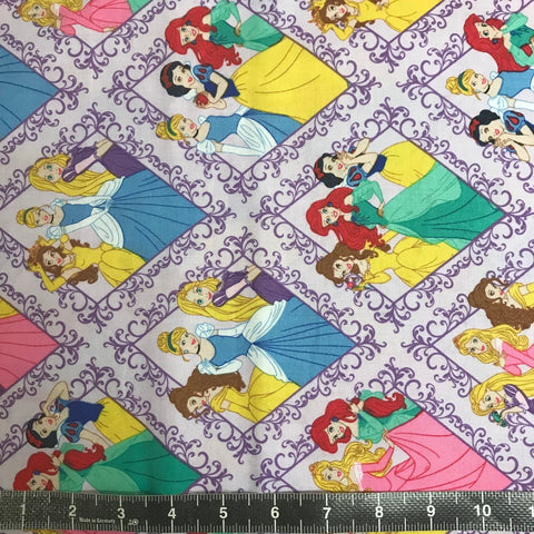 Camelot Fabrics: Disney Princesses Diamonds in Purple