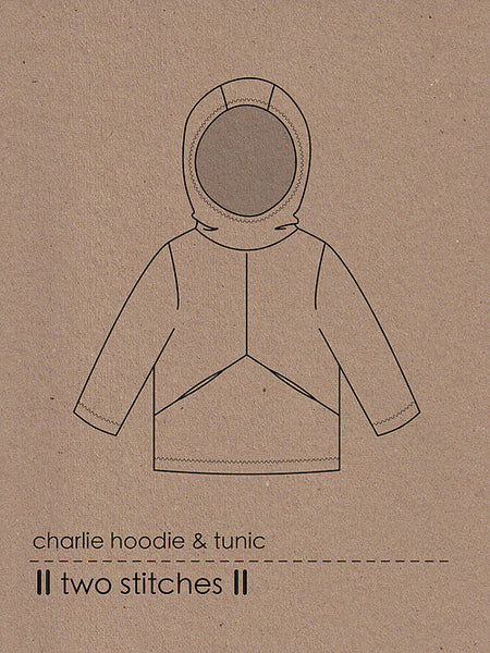 Two Stitches: Charlie Hoodie & Tunic Sewing Pattern