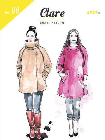 Closet Case Patterns: Clare Coat Sewing Pattern