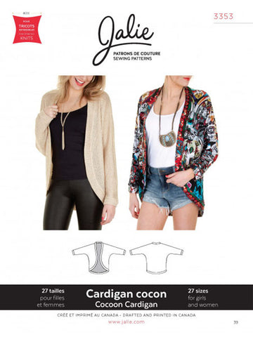 Jalie: Cocoon Cardigan 3253 Sewing Pattern