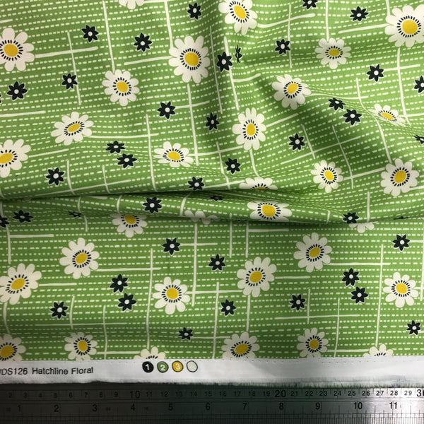 Freespirit Fabric: Denyse Schmidt - Winter Walk Hatchline Floral Evergreen
