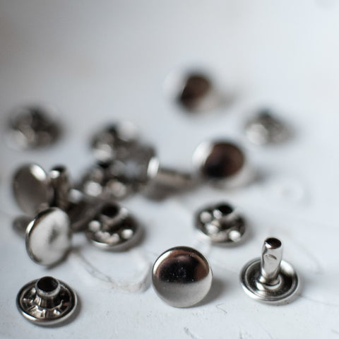 Merchant & Mills: 9mm Double Cap Rivets Silver (Pack of 20)