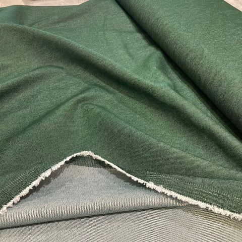 Dark Green Stretch Denim (Approx 15% Stretch)