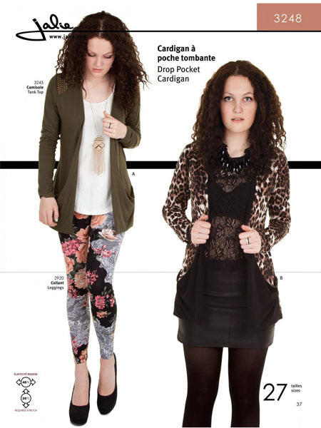 Jalie: Drop Pocket Cardigan 3248 Sewing Pattern