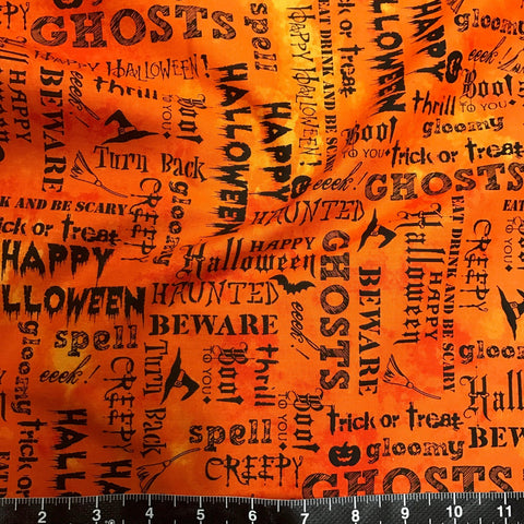 Windham Fabrics: Eat, Drink & Be Scary - Halloween Text