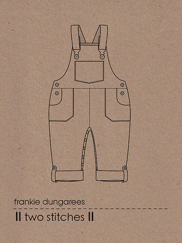 Two Stitches: Frankie Dungarees/Dungaree Dress Sewing Pattern