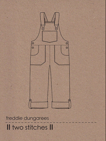 Two Stitches: Freddie Dungarees/Dungaree Dress Sewing Pattern