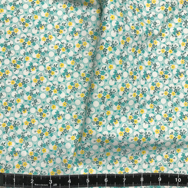 Washington Street Studio: Vintage 30s Floral - Green & Yellow Floral
