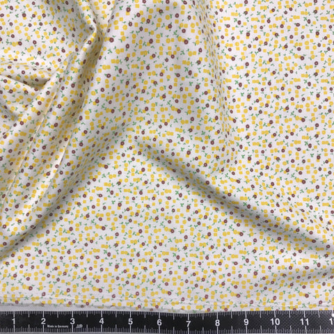 Washington Street Studio: Vintage 30s Floral - Yellow & Brown Ditsy Floral