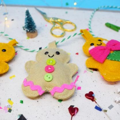 "The Make Arcade: ""Gingerbread Party"" Garland Craft Kit"