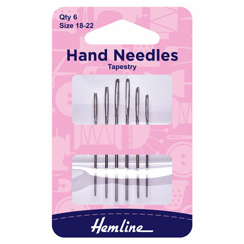 Hemline Tapestry Needles: Size 18-22