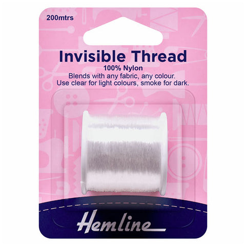 Hemline Invisible Thread: Clear - 200m