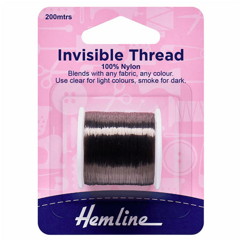 Hemline Invisible Thread: Smoke - 200m