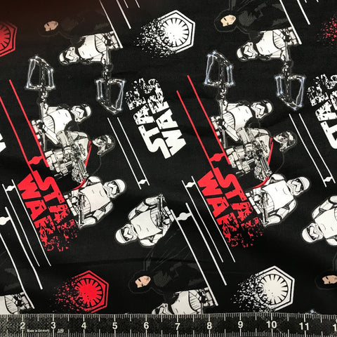 Camelot Fabrics: Star Wars The Last Jedi - Black