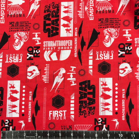 Camelot Fabrics: Star Wars The Last Jedi - Red