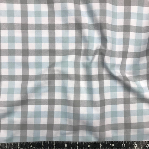 Robert Kaufman: Brooklyn Plaid Flannel - Blue/Grey