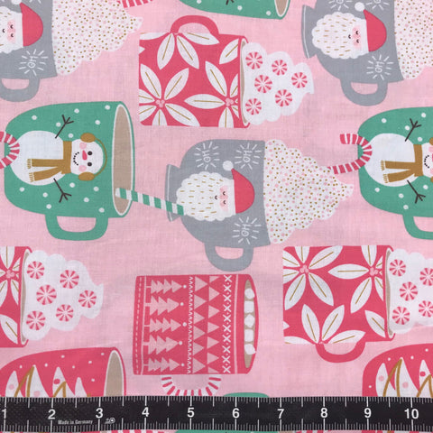 Blend Fabrics: Kringle Sweet Shop - Cups of Cocoa Pink