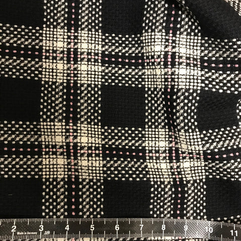 Black Check Wool Blend