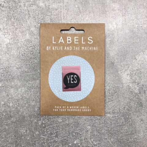 "Kylie and the Machine: ""Yes I Made It"" Woven Labels - Pack of 8"