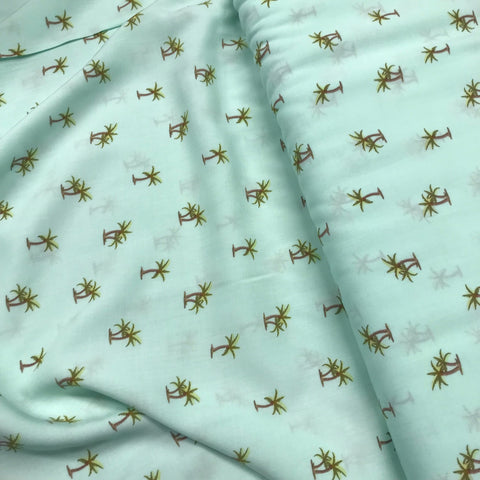 Arnold Palm Tree Mint Green Viscose