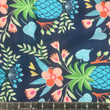 At The Beach by Hamburger Liebe: Navy Floral Cotton Sateen