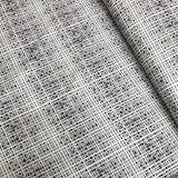 Purple/Grey Grid Cotton Poplin BOLT END - 95CM