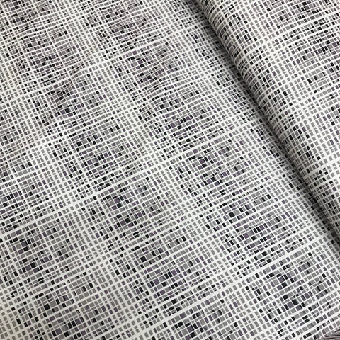 Purple/Grey Grid Cotton Poplin
