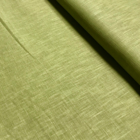 John Louden: Enzyme Washed Linen - Chartreuse