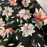 Bold Flower Stretch Woven