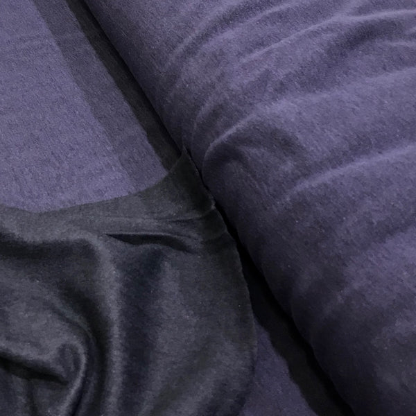 Fleece Backed Heathered Sweatshirt Fabric - Purple