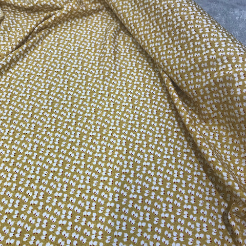 Mustard Flock Viscose BOLT END: 0.9M