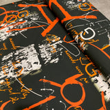 Lady McElroy: Art Work (Black/Orange) Cotton Poplin
