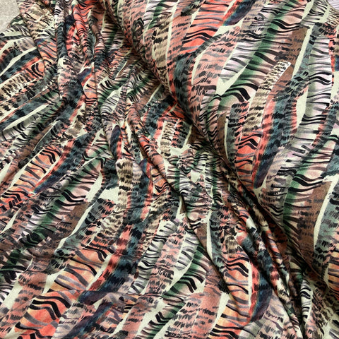 Rose Striped Viscose Jersey