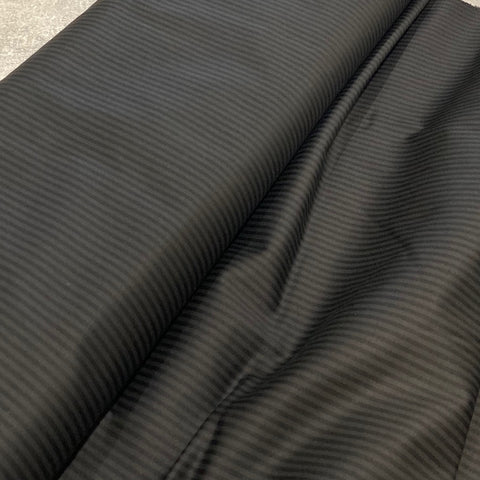 Black Stripe Stretch Cotton