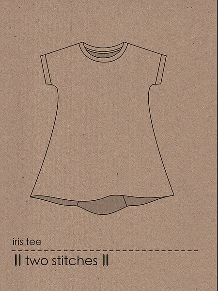 Two Stitches: Iris Tee Sewing Pattern
